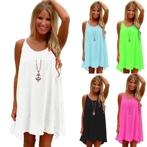 Women Summer Chiffon Beach Wear Bikini Cover Up Boho Swing S