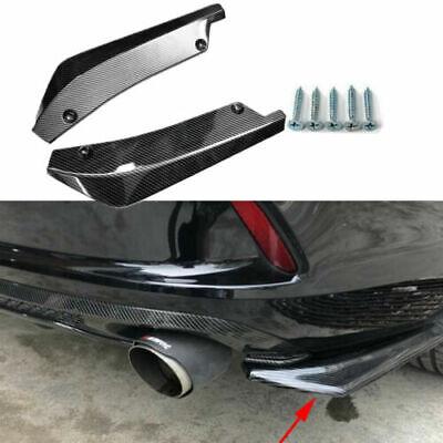 2x Car Rear Bumper Lip Diffuser Splitter Canard Protector Carbon Fiber Universal Carbon Fiber Bumper