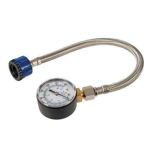 Profi Wasserdruckmesser 30cm Wasserdruck 0-11 Bar Edelstahlschlauch Manometer