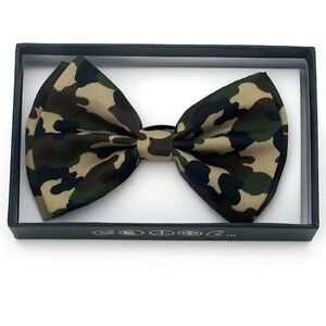 New-Unisex-Camouflage-Bow-Ties-Bowtie-Camo-Hunting