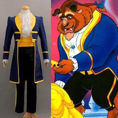 Disney Princess Beauty and the Beast Prince Adam Cosplay Costume Suit