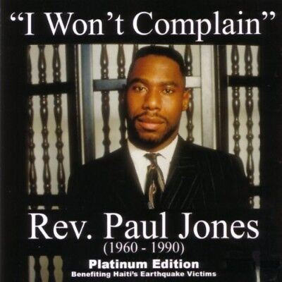 Rev. Paul Jones - I Won't Complain [New CD] Bonus DVD