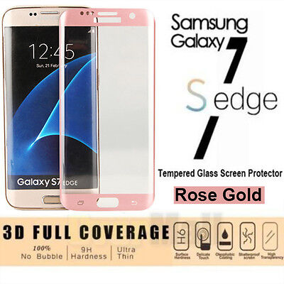 3D Full Cover Tempered Glass Screen Protector Film For Samsung Galaxy S7 Edge RG