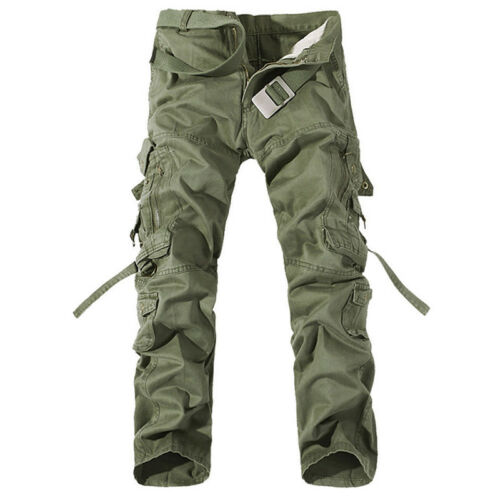 Men Army Camo Cargo Combat Military Trousers Camouflage Long Pants Size 32-42