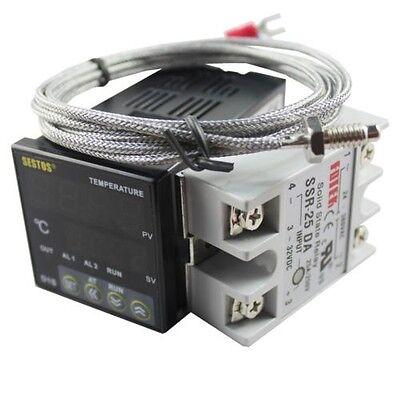 Digital Pid Temperature Controller Thermostat D1s-vr-22025a Ssr2m K Sensor
