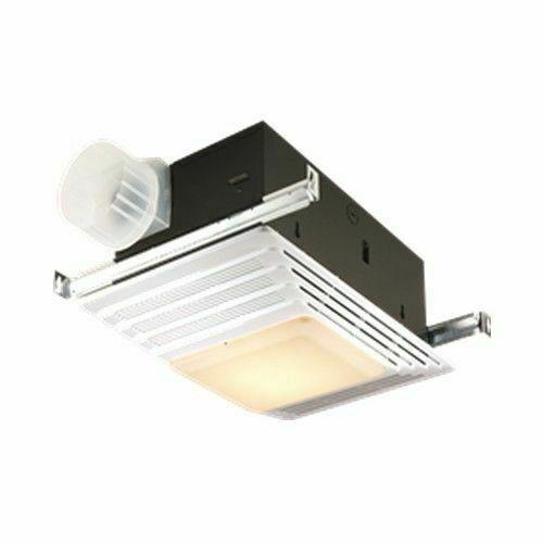 "BROAN 655 Ceiling Bathroom Fan, Lighted, 70 cfm, 4"" Duct Dia"