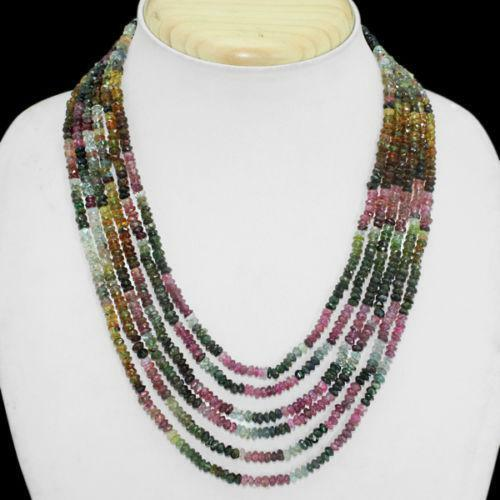 Tourmaline Bead Necklace Ebay