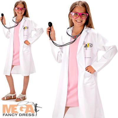 Hospital Doctor Girls Fancy Dress Surgeon Uniform Occupations Childs Kid Costume - Occupations Fancy Dress