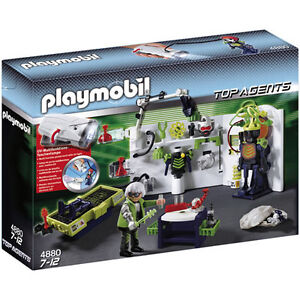 Playmobil Top Agents Robo Gangster Laboratory 4880 Playmobil