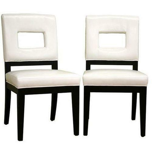 White Leather Dining Chairs eBay : 3 from www.ebay.com size 500 x 500 jpeg 17kB