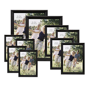 black wood picture collage frames set 10 photos wall decor