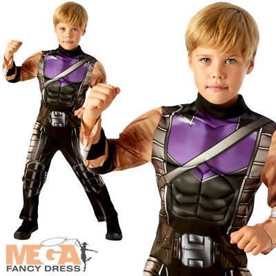 Hawkeye Boys Costume Avengers Age Of Ultron Superhero Childs Kids Fancy Dress  - Hawkeye Costume For Boys
