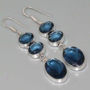Blue Tourmaline Earrings