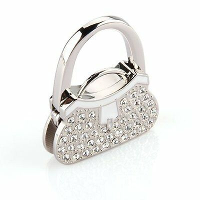 Metal RhInestone Folding Handbag Purse Table Hook Hanger Holder ED (Handbag Table Hook)