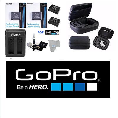 2 Battery for GoPro HD Hero4 SILVER/BLACK  AHDBT 401+USB