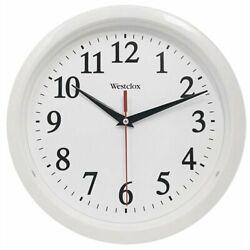 Westclox 461761 Basic Wall Clock, White, 10