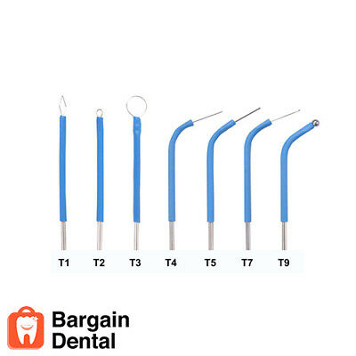 Bonart 7 Assorted Dental Electrode Tips For Art-e1 Electrosurgery Te0002-002 Vet