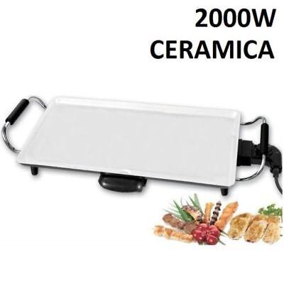 Plancha de cocina Asar CERÁMICA ANTIADHERENTE 2000W Con Termostato | ENVÍO 24/48