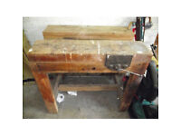 Antique Vintage Wooden Workbench