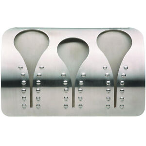 New Masterclass Stainless Steel Triple Tea Towel Cloth Holder Rack Self Adhesive