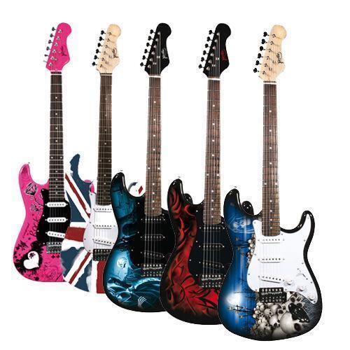 pink electric guitar ebay. Black Bedroom Furniture Sets. Home Design Ideas