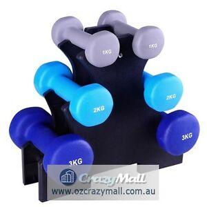 6 Pcs 12kg Dumbbell Weights Rack Set Melbourne CBD Melbourne City Preview