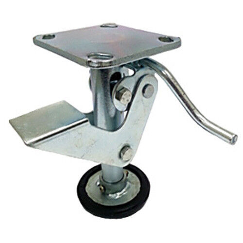 """6"""" Floor Locks Brake with Non-Slip Rubber Foot for 6"""" x 2"""" Casters - 1 EA"""
