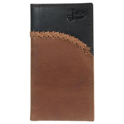Justin Brown Wallet (Justin Western Mens Wallet Rodeo Leather Laced Black Brown 1920566W4)