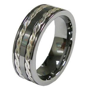 cool men 39 s 8mm tungsten anniversary wedding ring band