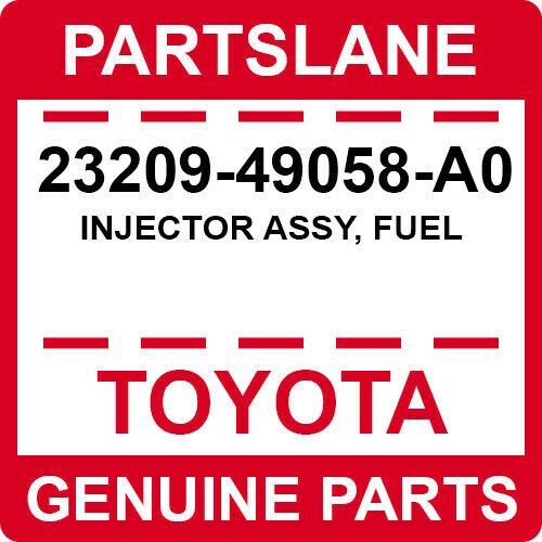 23209-49058-a0 Toyota Oem Genuine Injector Assy, Fuel