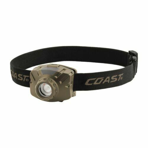 Coast Model FL60R Rechargeable Wide Angle 450 Lumen Headlamp Kit IPX4 Waterproof
