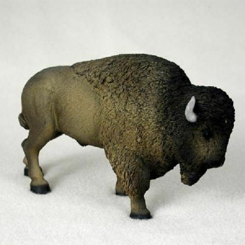 Buffalo Brown Hand Painted Figurine NIB