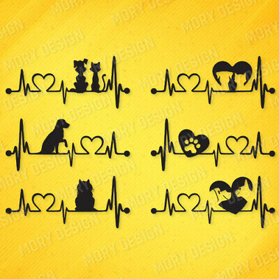 Heartbeat -dxf File For Cnc Plasma Router Laser Cut Vector Dxf Svg Eps Cdr Files