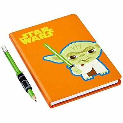 Hallmark Star Wars YODA Journal & Light Saber Pencil & Grip Set Hardbound NIP ()
