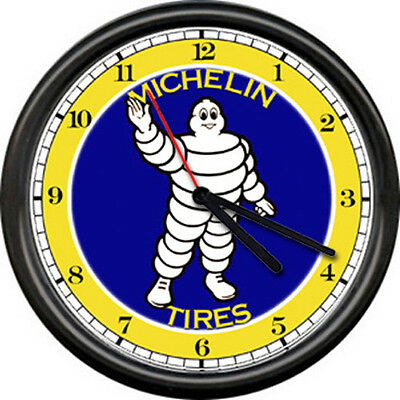 Michelin Tires Service Advertising Auto Tire Store Dealer Sales Sign Wall Clock