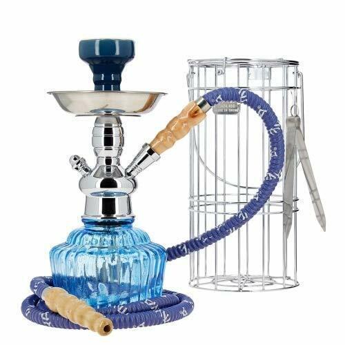 "Mya QT 14"" Caged Glass Hookah Set Single Hose Durable Long Lasting Smooth Smoke"