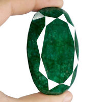 64x44mm 480cts Facetado Oval Verde Bosque Certificado Natural Brasileño Emerald - natura - ebay.es
