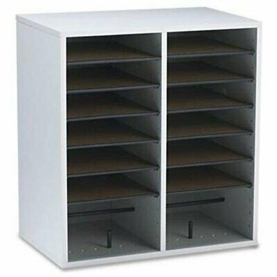 Safco 16 Compartments Adjustable Shelves Literature Organizer - 21.1 Height X