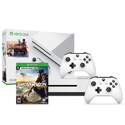 Xbox One S Battlefield 500GB + Xbox Wireless Controller + Ghost Recon Wildlands