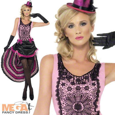 Deluxe Burlesque Beauty Ladies 1920s Fancy Dress Western Costume Womens - Deluxe Burlesque Kostüm