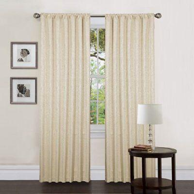 Home Fashions Zebra -  Triangle Home Fashions 19198 Lush Decor 84-Inch Thermal Zebra Curtain, Beige,