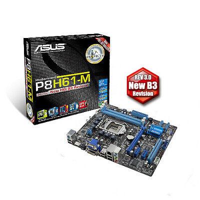 INTEL DUAL CORE I3 2100 CPU ASUS H61 Motherboard 8GB DDR3 Memory RAM COMBO KIT