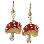 Betsey Johnson Mushroom Earrings