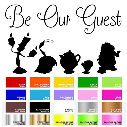 Be Our Guest Vinyl Decal Sticker for Home Door Stair Windows
