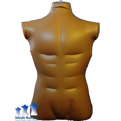 Inflatable Mannequin Male Torso Large Dark Tan