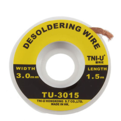 Multiple 5 Feet 1.5m 3mm Desoldering Braid Solder Remover Cleaning Wick Wire