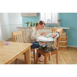 Fisher-Price SpaceSaver High Chair-Teal Tempo Cambridge Kitchener Area image 2