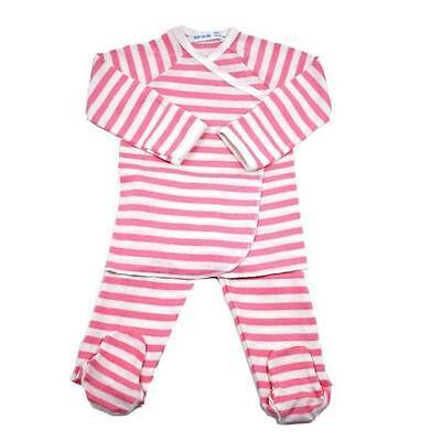 Under the Nile Organic Cotton Side-Snap Layette Set - Rene Rose Stripes: 2 Sizes Side Snap Layette Set