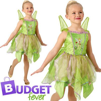 Tinkerbell Fairy Girls Fancy Dress Fairytale Peter Pan Childrens Kids Costume  (Peter Pan Costume For Girls)