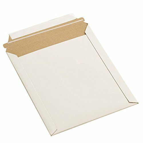 """9x11.5"""" RIGID PHOTO MAILERS ENVELOPES FLAT DOCUMENT SELF SEAL MAILER 100 To 1000"""